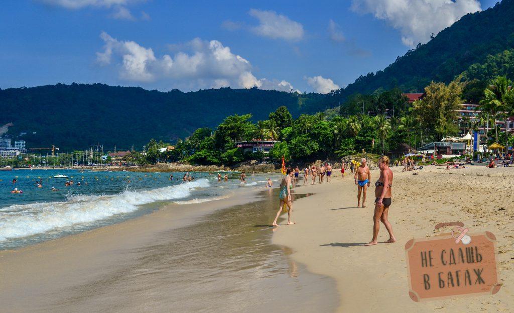 В центре пляжа Патонг