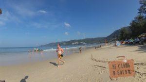 Бег на пляже Патонг