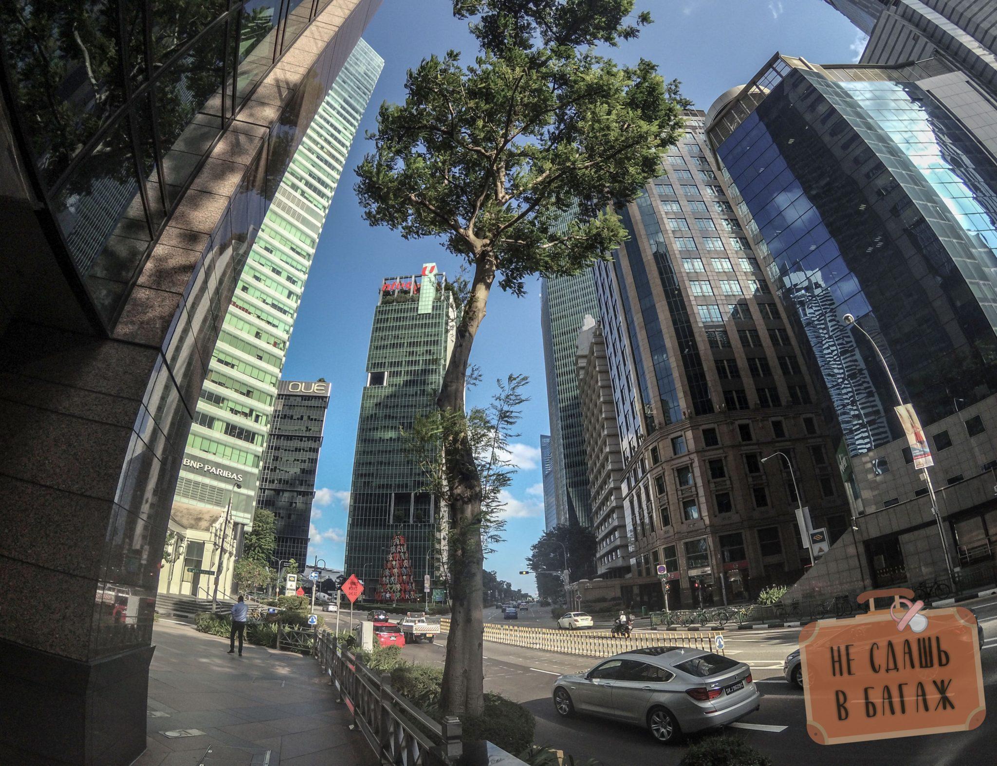 трафик в центре Сингапура
