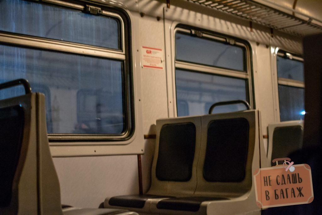 Интерьер поезда Кутаиси - Чиатура