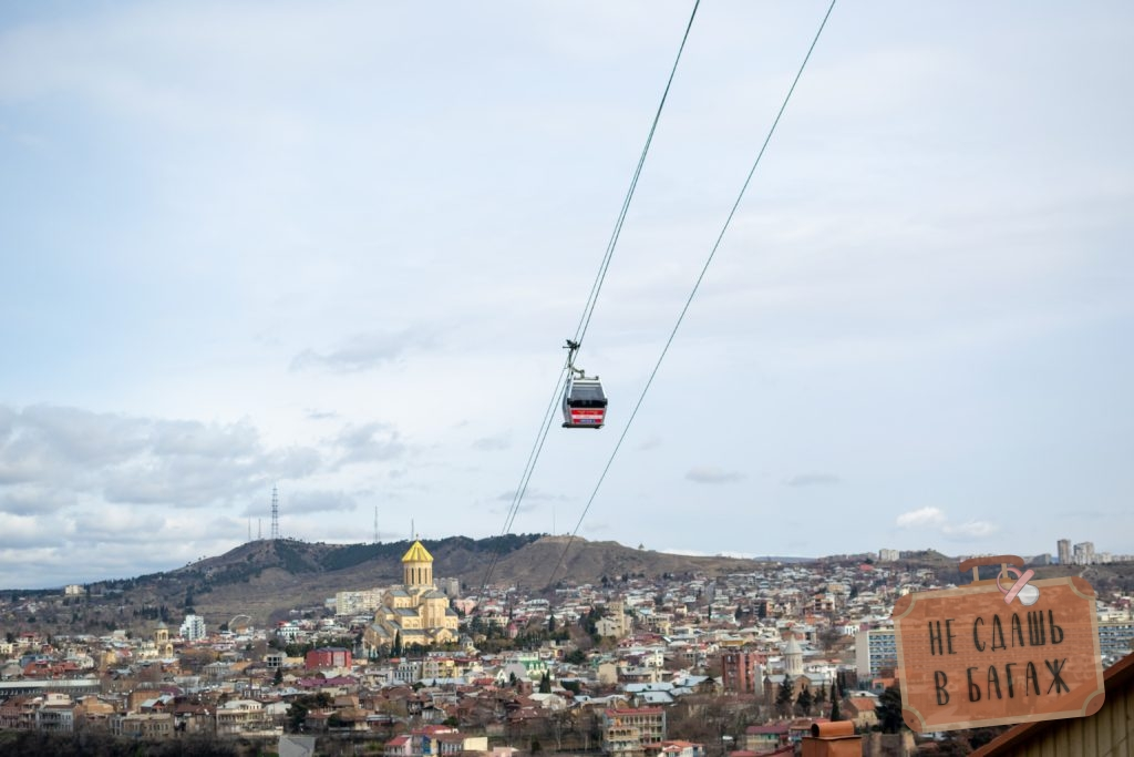 Самая новая канатная дорога в Тбилиси