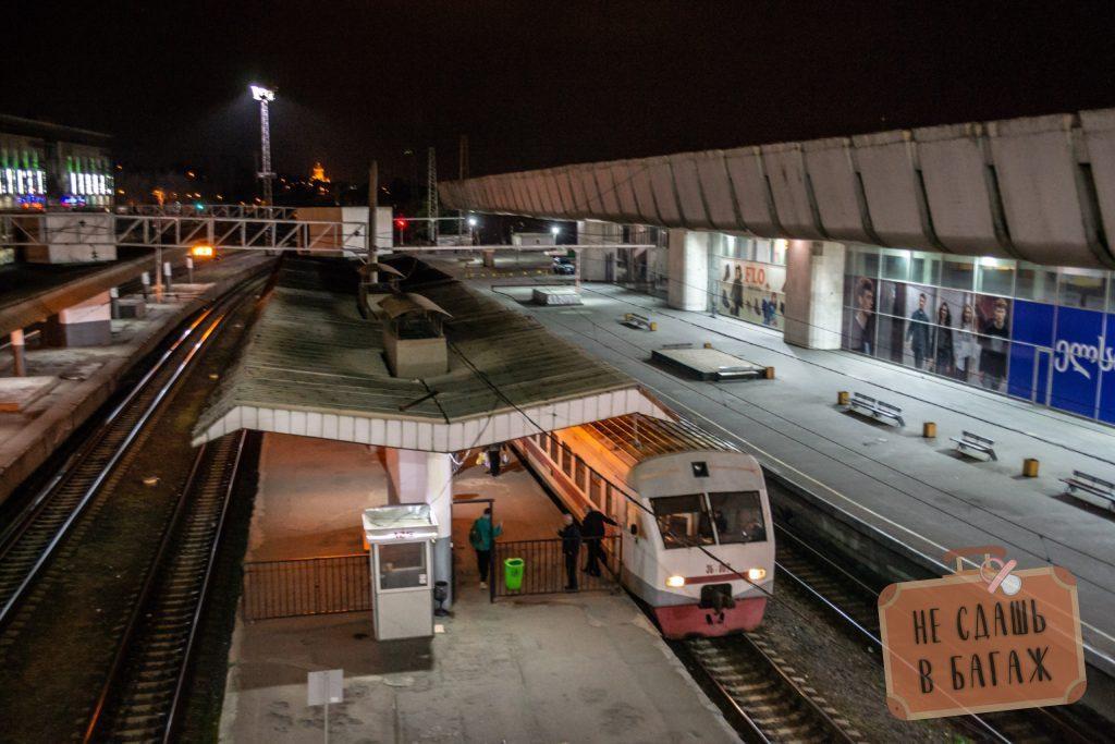 Электричка Тбилиси - Боржоми отправляется очень рано