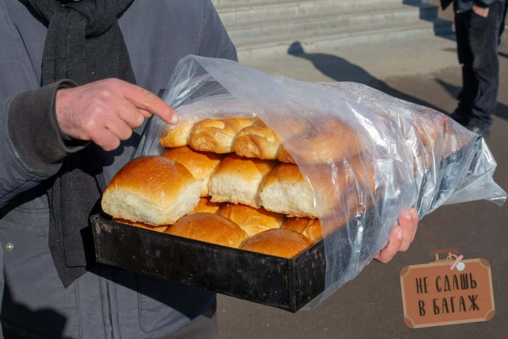 Вкусные булочки по 80 тетри на вокзале в Ахалцихе