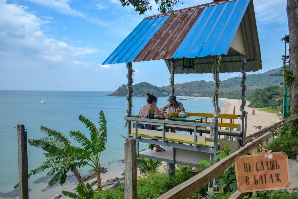 Кафе на Ланте с видом на море