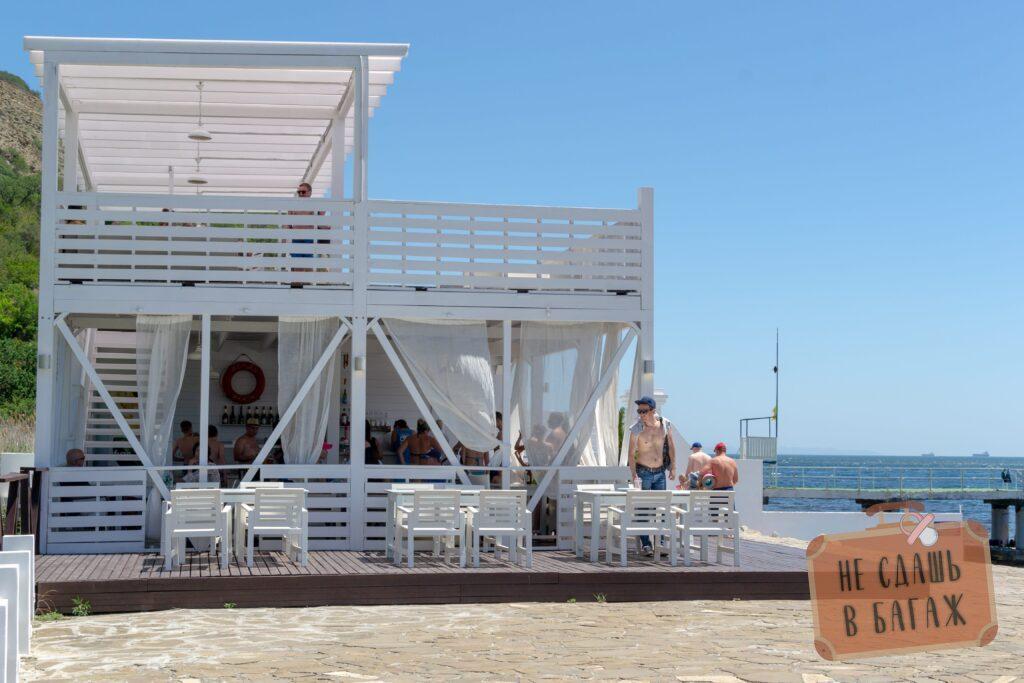 бар на пляже Абрау