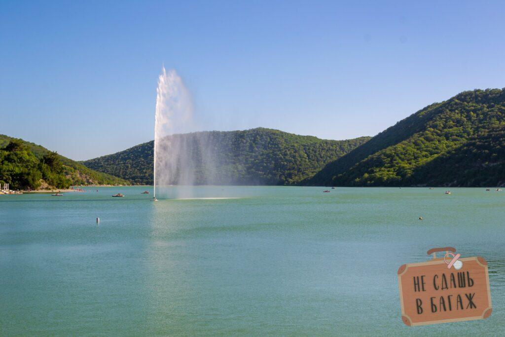 Озеро Абрау, фонтан