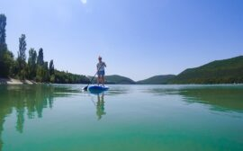 Прогулка на сапах по озеру Абрау-Дюрсо