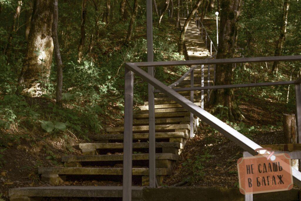 """Лестница от кемпинга """"На высоте"""" моря"""